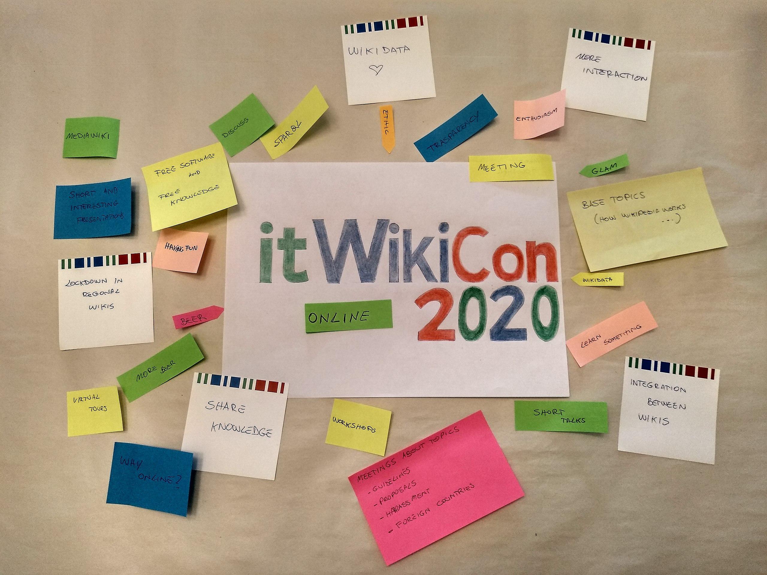 ItWikiCon 2020: Online 24-25 ottobre
